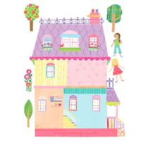 Wallies Peel-and-Stick Play House Wall Decal Set