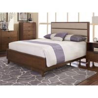Mid-Mod King Panel Bed in Cinnamon