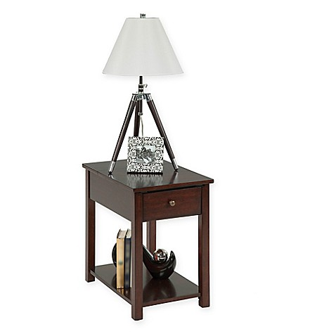 Chairside 1 Drawer Table in Light Brown Bed Bath & Beyond
