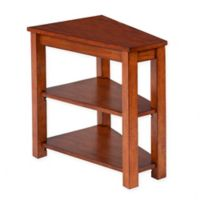 Chairside 2-Shelf Table in Light Brown