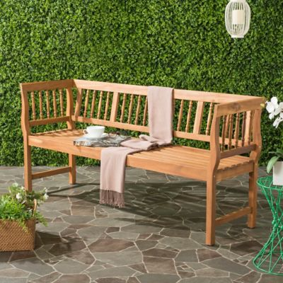 Safavieh Brentwood All Weather Acacia Wood Bench in Teak. Buy Teak Wood Furniture from Bed Bath   Beyond