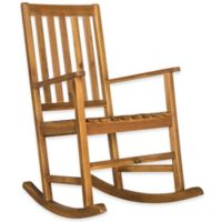 Safavieh Barstow All-Weather Acacia Wood Rocking Chair in Teak