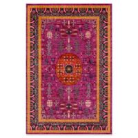 Surya Anika Arrow 5-Foot 3-Inch x 7-Foot 3-Inch Area Rug in Bright Pink