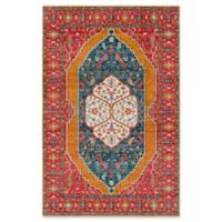 Surya Anika Four Petal Floral 5-Foot 3-Inch x 7-Foot 3-Inch Area Rug in Bright Pink