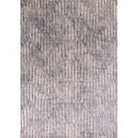 KAS Provence Illusions Viscose 3-Foot 3-Inch x 4-Foot 7-Inch Accent Rug in Grey Blue