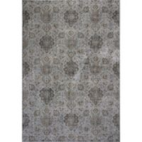 KAS Allover Kashan Provence 3-Foot 3-Inch x 4-Foot 7-Inch Accent Rug in Silver