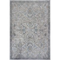 KAS Provence Mahal 2-Foot 2-Inch x 3-Foot 7-Inch Accent Rug in Silver/Blue