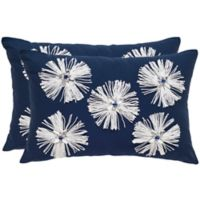 Safavieh Bellissima 12-Inch x 18-Inch Jeweled Oblong Throw Pillows (Set of 2)