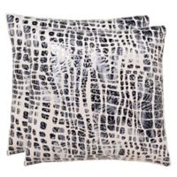 Safavieh Cleo Square Throw Pillows in Grey (Set of 2)
