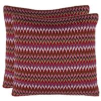 Safavieh Ava Knit Square Throw Pillows (Set of 2)