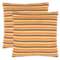 Safavieh Goya Square Throw Pillow in Orange (Set of 2)