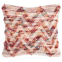 Safavieh Looped Chevron Square Throw Pillow in Candy Red