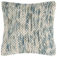 Safavieh All Over Braid Artic Blend Square Indoor Throw Pillow in Blue