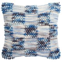 Safavieh Spaced Looped Square Throw Pillows in Azure Blue
