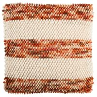 Safavieh Striped Looped Square Throw Pillow in Orange
