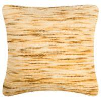 Safavieh Tight Weave Square Throw Pillow in Mustard