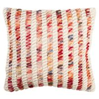 Safavieh Candy Cane Looped Throw Pillow in Red