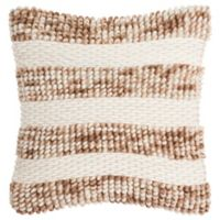 Safavieh Loop & Weave Striped Square Throw Pillow in Eggshell