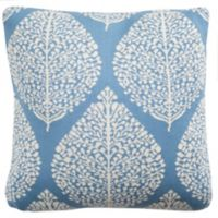 Safavieh Artic Fall Square Throw Pillow in Blue