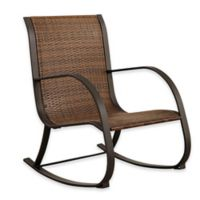 Abbyson Living® Gabriela Outdoor Wicker Rocking Chair in Brown