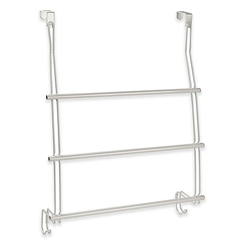 Interdesign 3 bar over the door towel rack bed bath beyond for Door towel racks for bathrooms