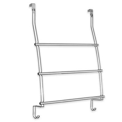InterDesign® 3 Bar Over The Door Towel Rack In Chrome