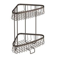 InterDesign® York Lyra 2-Tier Corner Storage Shelf in Bronze