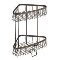 InterDesign® York Lyra 2-Tier Corner Storage Shelf in Bronze