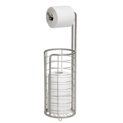 interdesign forma 4roll toilet paper holder in brushed stainless steel