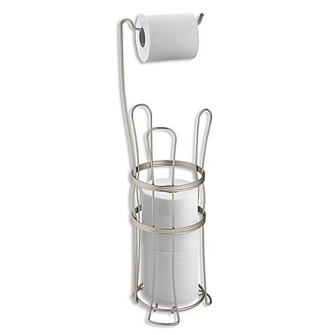 Interdesign 174 York Lyra Freestanding 4 Roll Toilet Paper