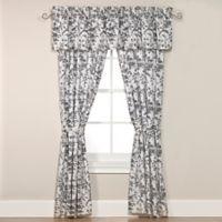Laura Ashley® Amberley Rod Pocket Window Valance in Black/White