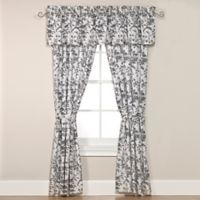 Laura Ashley® Amberley Rod Pocket 84-Inch Window Curtain Panel Pair in Black/White