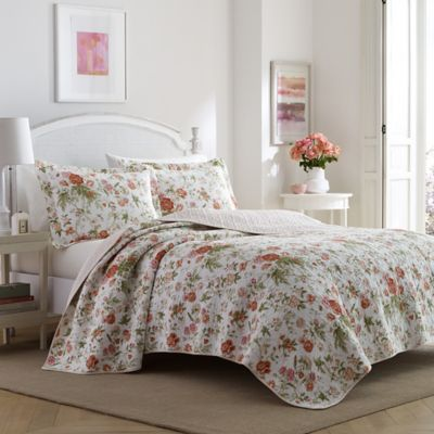 Buy Floral Print Quilt From Bed Bath Beyond