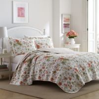 Laura Ashley® Breezy Floral Twin Quilt Set in Light Orange