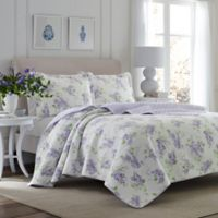 Laura Ashley® Keighley Full/Queen Quilt Set in Light Purple