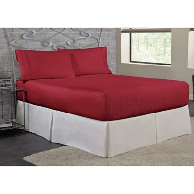 Bed Tite™ Soft Touch Twin Sheet Set In Burgundy