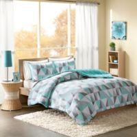 Intelligent Design Ellie 3-Piece King Comforter Set in Aqua