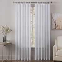 Sahara 84-Inch Tie-Top Sheer Window Curtain Panel in White