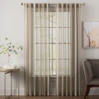 Garrett 95-Inch Rod Pocket Sheer Window Curtain Panel in Neutral