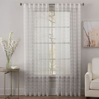 Geri 95-Inch Rod Pocket/Back Tab Sheer Window Curtain Panel in Off-White