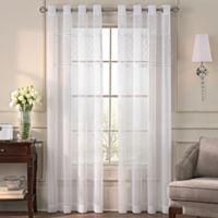 Grace 108-Inch Grommet Top Sheer Window Curtain Panel in Off-White