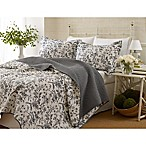 Laura Ashley® Amberley King Quilt Set in Black/White