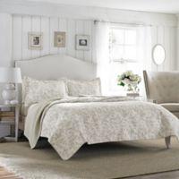 Laura Ashley® Amberley Full/Queen Quilt Set in Beige