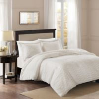 Premier Comfort Sloan Chevron 3-Piece King/California King Comforter Set in Ivory