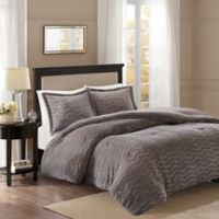 Premier Comfort Sloan Chevron 3-Piece King/California King Comforter Set in Grey