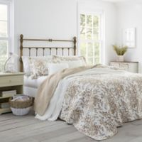 Laura Ashley® Bedford Twin Quilt Set in Brown