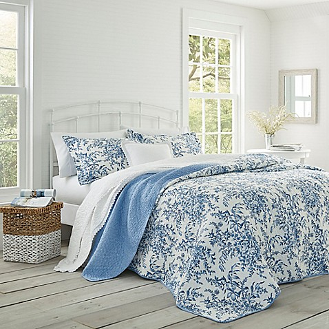 laura ashley bedford quilt set bed bath beyond. Black Bedroom Furniture Sets. Home Design Ideas
