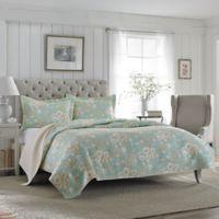 Laura Ashley® Brompton Twin Quilt Set in Aqua