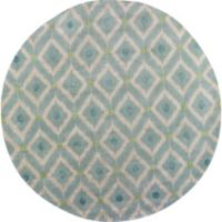 KAS Bob Mackie Home Mirage 7-Foot 6-Inch Round Area Rug in Blue