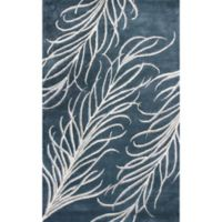 Bob Mackie Home Plume 3-Foot 3-Inch x 5-Foot 3-inch Accent Rug in Slate Grey